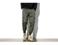 pantalones de hip hop verde militar al por mayor-Cool Cotton Mens Jogger Pencil Harem Pantalones Hombres Military Cargo Pants Loose Hip hop Elastic Waist Joggers Pantalones masculinos M -5XL Army Green