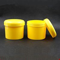 ingrosso vasi di plastica gialli-Vuoto di plastica giallo 300g crema vaso riutilizzabile 10OZ grande maschera facciale confezione 300cc cosmetica Srew Cap Pot F1210