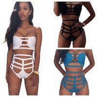 Wholesale high waisted bikini wholesale online - Femme Bikini High Waisted Woman Sexy Body One Piece Suit Bandage Bathing Swimsuit Lady Swimwear Hot Sale mm V