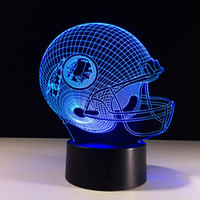 Wholesale football night lights kids for sale - Group buy Football Friendship gifts D LED Night Light Color Changing building USB Optical Illusion Home Decor Table Lamp Novelty Lighting for kids