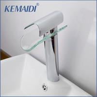 Wholesale Chrome Glass Bathroom Basin Sink - KEMAIDI Chrome Bathroom Sink Faucet Glass Water Basin Tap For Bathroom Torneira Para De Banheiro Water Taps