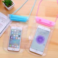 yüzme için su geçirmez cep çantaları toptan satış-Su geçirmez Spor Çanta Bel Çantası Yüzme Sürüklenen Dalış Fanny Paketi Kılıfı Sualtı Kuru Omuz Sırt Çantası Cep Iphone 6 7 Samsung
