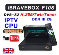 Wholesale Dvb S2 Usb Receiver - iBRAVEBOX F10S DVB-S2 TwinTuner HD Satellite Receiver H.265 Support CCCCAMD NEWCAMD IKS USB Wifi Media Player With LED Display