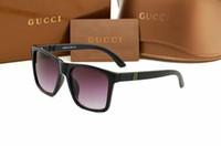Wholesale standard sunglasses for sale - Free ship fashion Luxury brand evidence sunglasses retro vintage men brand designer shiny gold frame laser logo women top quality with