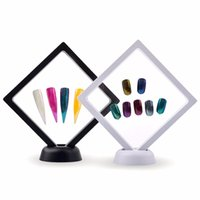 Wholesale manicure display stand - Manicure Nail Art Display Stand Nail Gel Polishing Showing Shelf Square Photo Frame Display Board Color Cards Chart Standing Kit
