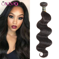ingrosso top offerte-Factory Deal 9a Peruvian Virgin Hair Extensions Body Wave Human Hair Weaves Bundles 1pc 8-26 Inch Brazilian Raw Indian Top Remy Hair Wefts