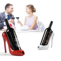adornos tacones altos al por mayor-Zapato de tacón alto vino botella titular vino estante decoración del hogar adornos artesanía estante estante para el hogar decoración de la barra