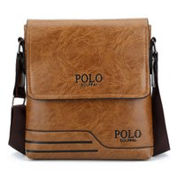messager de polo d'hommes achat en gros de-Hommes Messenger Bag Haute Qualité Célèbre Marque Design Hommes Sac À Bandoulière Casual Business Cuir Vintage Mode Polo Cross Body