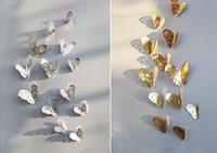ingrosso adesivi farfalla per i bambini dei muri-Nuovo 12 pz / set 3d adesivi murali in pvc farfalle hollow fai da te home decor poster camere dei bambini decorazione della parete wedding party