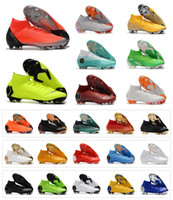 Wholesale mens mercurial superfly for sale - Mercurial Superfly VI Elite FG KJ XII CR7 Ronaldo Neymar Mens Women Boys High Soccer Shoes th Football Boots Cleats Size