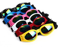 dog sunglasses оптовых-Свободный размер складной собаки любимчика очки собака кошка очки собака защитные очки Мода регулируемые солнцезащитные очки