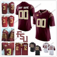 Wholesale fsu jersey - Custom Florida State Seminoles College Football 2018 FSU white red black Personalized Stitched Any Name Number Akers Francois Jerseys S-3XL