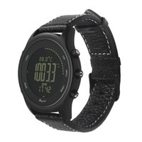 relógio inteligente ultra fino venda por atacado-Novo Relógio Inteligente Além de Ultra Fino Rodada de Couro IP68 5ATM À Prova D 'Água Bússola Altímetro Relógio para Homens e Casais