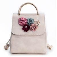 Women Backpack Feminima Bolsas School Bags For Girls Teenager Backpacks  High Quality Leather Shoulder Bag Flower Women c422eb33bf