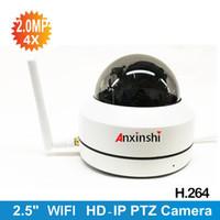 mini cámaras al aire libre ip dome al por mayor-1080P CCTV cámara IP de 2 Megapíxeles Full HD Mini WIFI 360 grados PTZ Dome 3X 4X 5X zoom óptico al aire libre impermeable Personalizado POE