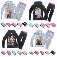 Wholesale children hooded tracksuits for sale - New Suits Tracksuit Autumn Baby Clothing Sets Children Girls Fashion Brand Clothes Kids Hooded T shirt And Pants jojo siwa MMA906