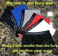 Wholesale Hot Underpants - Men Underwear Boxers 100% Cotton Breathable GA Underpants Shorts Luxury Brand Design 6 Colors M-2XL ga hot
