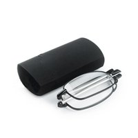 36632d9bf194 Portable Folding Reading Glasses Pocket Foldable Eyeglasses Women Men Eyewear  Black Full Metal Frame Eye Reader Mini Case +1.0~+4.0