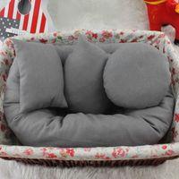girls room accessories 2018 - 4 PCS Set Baby Newborn Pillow Basket Filler Wheat Donut Photography Props Stretch Cotton Boy Girl Room Decor Accessories 0-24 M