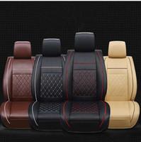 accesorios de auto esteras al por mayor-Fundas de asiento de coche impermeables Universal de cuero de PU Funda de cojín de asiento delantero automático Protector de colchoneta Se adapta a la mayoría de los accesorios para automóviles Interior