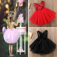 Wholesale prom dresses shops resale online - Back Hollow Out Little Girls Dresses Fashion Patchwork Girls Sequin Dress Online Shopping Princess Tulle Prom Dress