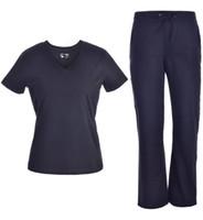 Wholesale Uniform Scrubs - Medical Uniforms Doctor Nurse Scrub Set Women Scrubs Pandamed Basic V-neck with Rib JY1606