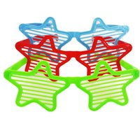 Модные очки Star Shutter Shades Glasses Retro Club Party Rave Hip New