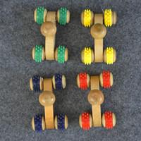 массажер для рук оптовых-Лицо рукой деревянный инструмент автомобиль четыре колеса роликовый массажер расслабляющий живота практичные удобные малые тела терапия горячие продажи 1 3 * х в
