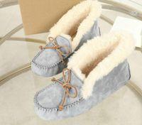 botas de mocasín de invierno al por mayor-2019 Winter Warm Snowboots Lady Luxury Doubleface Sheepskin Snow Boots EVA Sole Classic Moccasins Womens Casual Fitness Shoes Australia