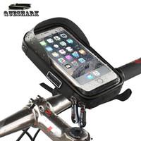 водонепроницаемый держатель телефона для велосипеда оптовых-6 дюймов велосипед водонепроницаемый сотовый телефон сумка держатель мотоцикл велосипед крепление для мобильного телефона сенсорный экран Велоспорт сумки