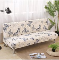 Wholesale butterfly seat covers for sale - Printing butterfly Sofa Bed Cover Folding seat slipcovers Modern stretch covers cheap Armless Couch Protector Elastic FutonAEI