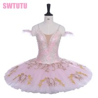 Wholesale leather ruffle skirt online - women pink custom made ballerina tutu skirt girls comeptiton stage tutu adult performance tutu adult BT9195