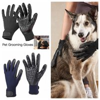 Wholesale Horse Brushes Wholesale - Pet Animal Brush Glove Dog Cat Hair Grooming Trimmer Tool Super Rubber Massage Cleaning Glove for Dog Cat horse Pet Hair Cleaning OOA5058