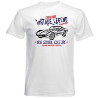 classiques de voitures américaines achat en gros de-Voiture américaine vintage Chevrolet Corvette C3 - Nouveau T-Shirt en coton Homme Tee-shirt à manches courtes d'été Classique Homme T-Shirt