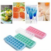Wholesale liquid silicone mold wholesale - 24-grid Creative Silicone Ice Cube Mold Tray Square Shape For Beverage Liquid Bar Kitchen Accessories DDA407