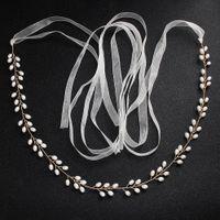 ceinture en or faite à la main achat en gros de-Ceintures de mariage or 2019 Nouveau luxe strass perles perles robe de mariée accessoires ceinture Ceinture