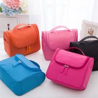 paquet sac de lavage achat en gros de-Nouveau forfait Grand Oreilles Suspendre double ouvert Wash Cosmetic Bag Rouge vert Mei rouge Khaki Lake bleu Bleu marine I176