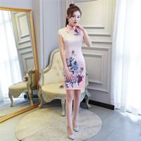 Wholesale thin silk dresses - Shanghai Story Chinese Qipao Dress Thin Chinese style Cheongsam Oriental dress Women's Summer Dresses