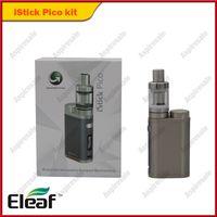 kit eleaf tc al por mayor-Auténtico Eleaf istick Pico 75W Kit con TC Vape Mods Melo III Mini tanque Firmware Ajuste actualizable CE 0.3ohm / 0.5ohm cabeza