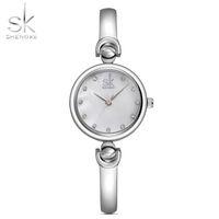 Wholesale Girl Hour - SK Fashion Quartz Watches for Women Stainless Steel Clock Female Women's Bracelet Watch Girls Ladies Hours