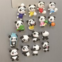 Wholesale Wholesale Decorative Magnets - Hot sale Cute cartoon panda stereo refrigerator stickers creative decorative magnets early education strong blackboard paste T3I0136