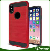 Wholesale star mobile case - Boost Mobile Metro Pcs Polish Metal Brushed Case for Samsung Galaxy J3 Achieve Star J337 J7 Refine Crown J737 2018 Prime Tribute Dynasty