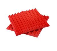 ingrosso adesivo cuore arancione-Pannello a onde acustiche per la riduzione del rumore acustico a forma di piramide Hotwave 50 * 50 * 5cm