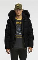 daunenjacke fuchs pelzkragen schwarz großhandel-Kalte Winter-Daunenjacke für Herren 3/4 3Q-Jacke mit Kapuze mit weißem oder schwarzem Fuchspelzkragen