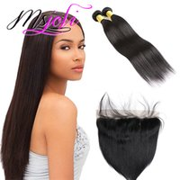 Wholesale human hair extension colors available for sale - Group buy Straight set Virgin Peruvian Bundles With x4 Frontal Human Hair Extension Available Double Weft Unprocessed Human Hair