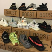 Wholesale Size 48 Shoes Men - 2018 with box best Kanye West Sply Boost 350 V2 zebra Black White Green blue tint Men Women runner boost 700 Running Shoes size 36-48