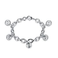 chain set men silver 925 NZ - Free shippin!Fashion chain lobster bucklsterling silver plated bracelet SPB593;high quatity fashion men and women 925 silver Charm Bracelets