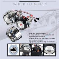 xenon bi projektor linsen großhandel-Auto Styling Mini 2,5 zoll WST HID Bi xenon Scheinwerfer Projektorlinse Retrofit DIY H7 H4 Scheinwerfer Linsen, Verwenden H1 Lampen