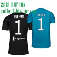 Wholesale Football Specials - 2018 BUFFON 1 SOCCER JERSEYS BLACK SPECIAL collectible FOOTBALL SHIRT 17 18 GOALKEEPER JERSE