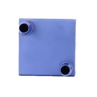 Wholesale aluminum cooling block resale online - Aluminum PC Laptop CPU Radiator x40x12mm Water Cooling Block for Liquid Water Cooler Heat Sink System